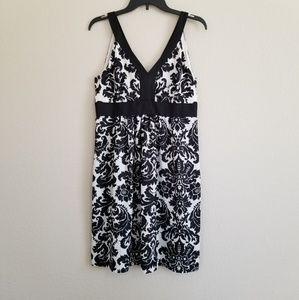 Ann Taylor Loft Damask Print Dress 8